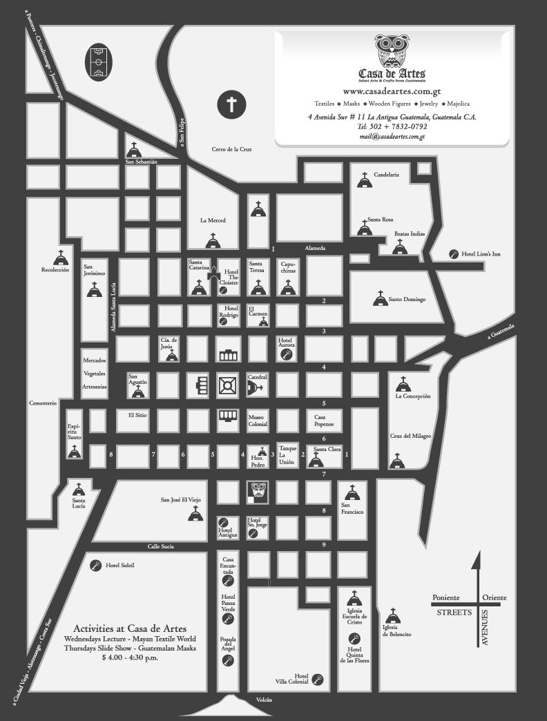 MAP OF ANTIGUA