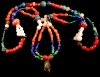 Multicolor Beads Chachal with glass pendant