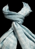 Light Blue Scarf with Natural Dyes