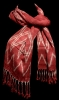 Red Scarf with Natural Dyes