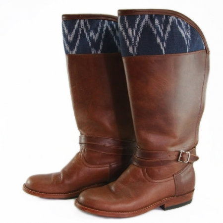 Indigo Hummingbird Boots by Kakaw Designs