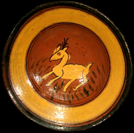 Deer with Grass Ceremonial Plate