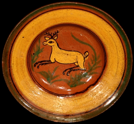 Beautiful Deer Ceremonial Plate