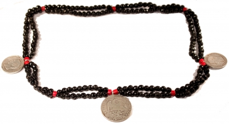 Double Chain and Triple Coin Azabache Chachal